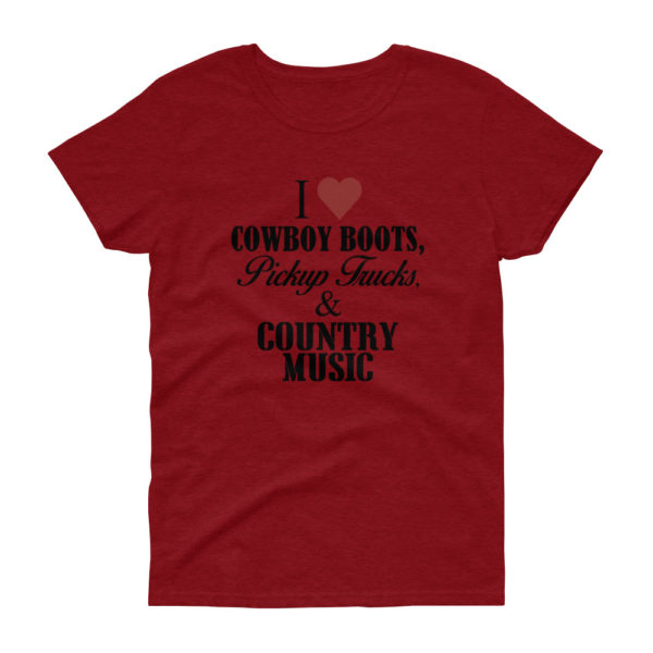 Country Music Women's Loose Crew Neck T-shirt