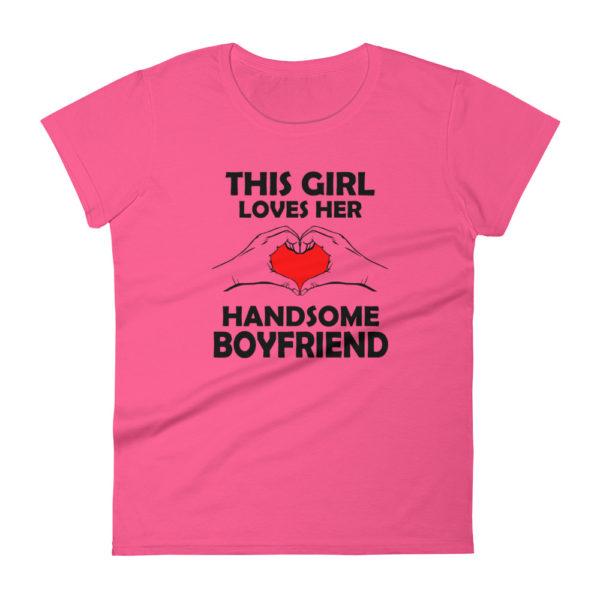 Cute Girlfriend Women's Fashion Fit T-shirt