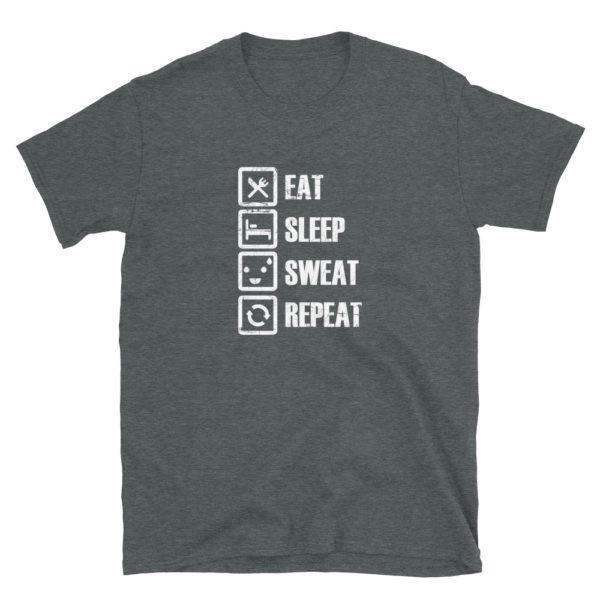 Gym Eat Sleep Sweat Repeat Men's/Unisex T-Shirt
