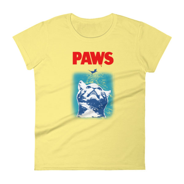 PAWS Cat Lover Women's Fashion Fit T-shirt