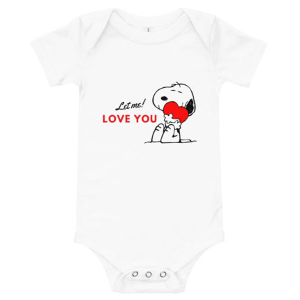 Let Me Love You Snoopy Baby's Onesie