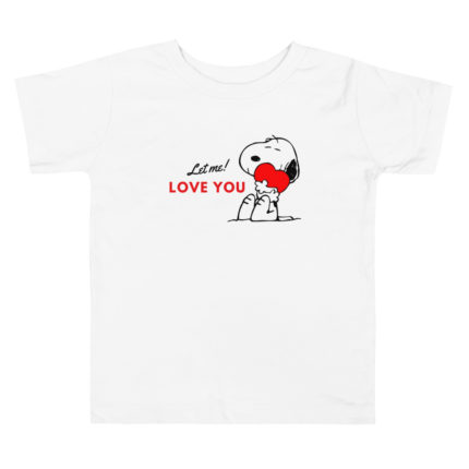 Let Me Love You Snoopy Girls Toddler T-shirt