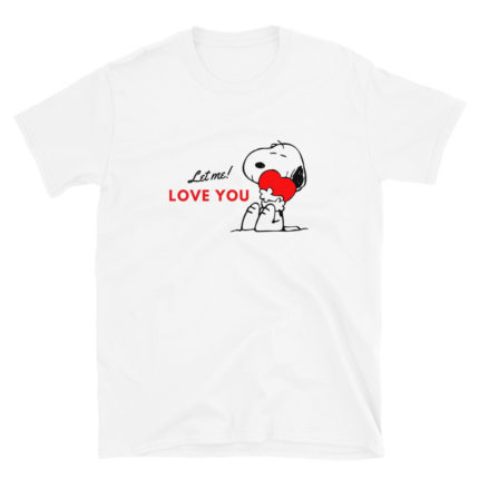 Snoopy Valentine's Love Woman's T-shirt (Unisex sizing)